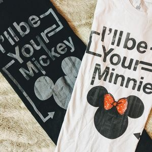 NWT - His & Hers Disney Mickey and Minnie T Shirts